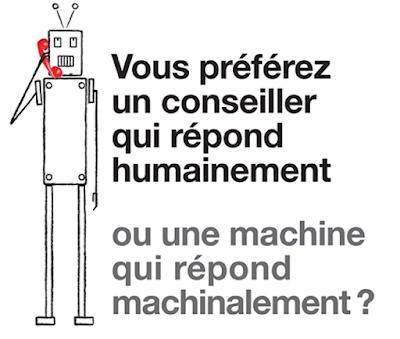 Une machine qui répond humainement ou un humain qui répond machinalement ?
